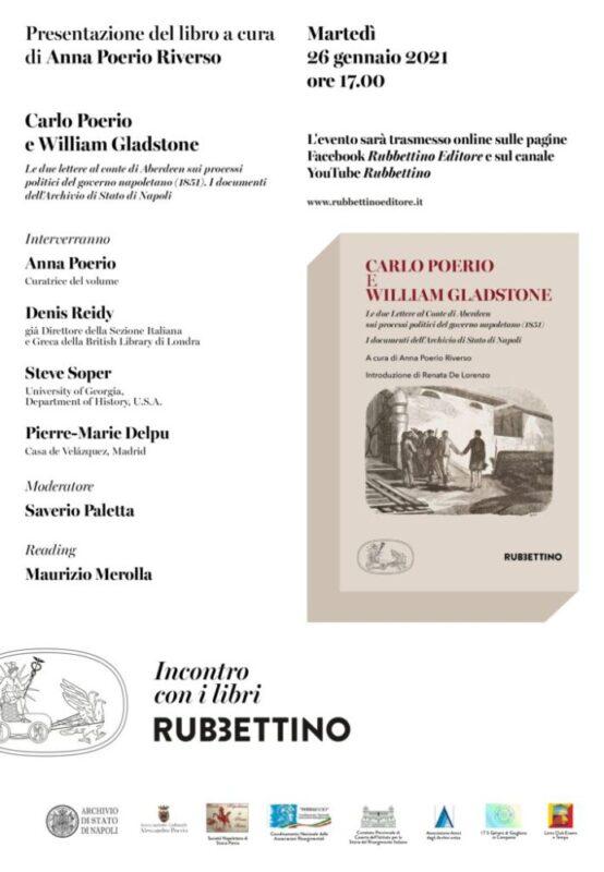 Le lettere di Poerio, una presentazione online oggi alle 17 in diretta streaming